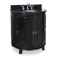 "33"" Demi-Lune Single Sink Vanity - Espresso"