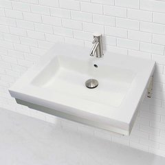 "DECOLAV Coral 18-1/4"" x 23-1/2"" Wall Mount Bathroom Sink"
