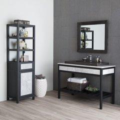 """48"""" Cuzco Sinlge Sink Bathroom Vanity Suite - Cararra Marble"""