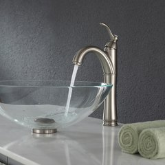 Riviera Vessel Bathroom Faucet - Satin Nickel