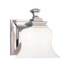 Wilton 1 Light Bathroom Sconce - Polished Nickel
