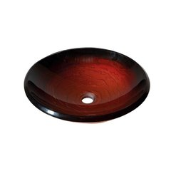 "18"" Diameter Round Vessel Bathroom Sink - Black Current"