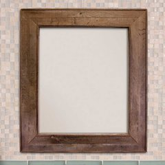 "29"" x 33"" Chardonnay Wall Mount Mirror - Oak"