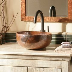 "12-1/2"" Round Maestro Petit Vessel Sink - Tempered Copper"