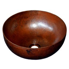 "12-1/2"" Round Maestro Petit Vessel Bathroom Sink - Copper"