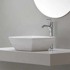 Coda One Handle Vessel Bathroom Faucet w/ Drain - Chrome