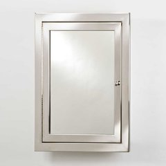"Metro 25"" Mirrored Medicine Cabinet - Polished Stainless"