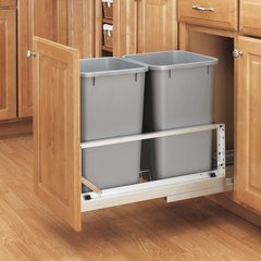 Double Trash Pullout 27 Quart- Silver