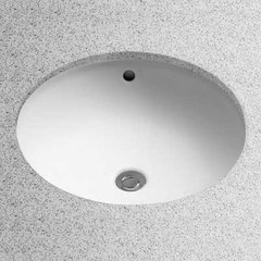 "17"" x 17"" Undermount Bathroom Sink - Cotton White"