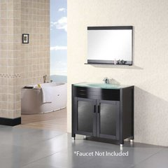 "36"" Waterfall Single Sink Bathroom Vanity - Espresso"