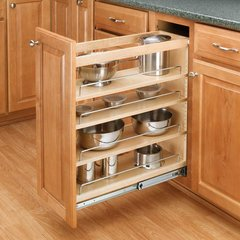 3-Tier Pull-Out Base Organizer 5 inch Wood