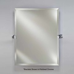 "22"" x 16"" Radiance Tilt Wall Mount Mirror - Satin Nickel"