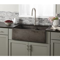 "33"" x 21"" Farmhouse Reversible Kitchen Sink - Slate"