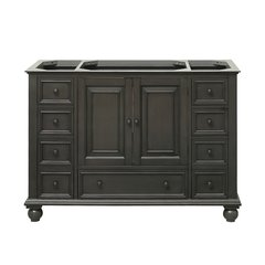"48"" Thompson Cabinet Only w/o Top - Charcoal Glaze"
