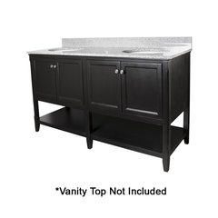 "60"" Auguste Cabinet Only w/o Top - Espresso"