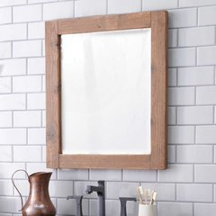 "21-1/2"" x 25-1/2"" Americana Wall Mount Mirror - Chestnut"