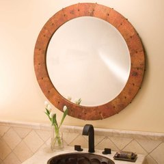"36"" Tuscany Round Wall Mount Mirror - Tempered Copper"