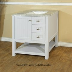 "29"" Single Sink Cabinet Only w/o Top - White"