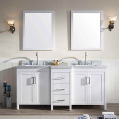 "73"" HollandaleDouble Sink Bathroom Vanity - White"
