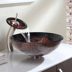 """16"""" Lava Vessel Sink w/ Faucet - Multicolor/Satin Nickel"""