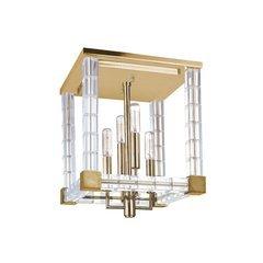 Alpine 4 Light Semi Flush - Aged Brass