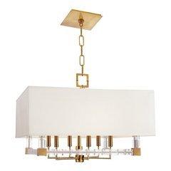 Alpine 6 Light Chandelier - Aged Brass