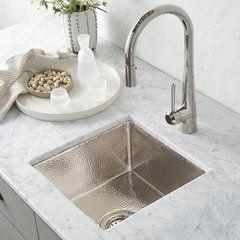"13"" Square Cantina Undermount Bar Sink - Polished Nickel"