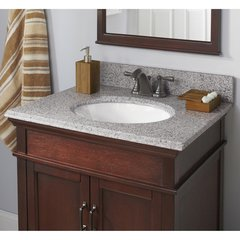 "25"" x 19"" Single Bowl Vanity Top Only w/ Basin - Napoli"