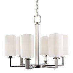 Baldwin 6 Light Chandelier - Polished Nickel