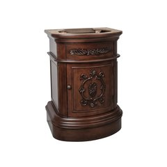 "25"" Emilia Single Sink Cabinet Only w/o Top - Merlot"