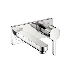 Metris S One-Handle Wall Mount Bathroom Faucet - Chrome