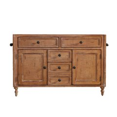 """48"""" Copper Cove Cabinet Only w/o Top - Driftwood Patina"""