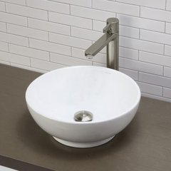 "DECOLAV Aila 15-5/8"" x 15-5/8"" Above Counter Bathroom Sink"