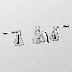 Vivian Two Handle Widespread Bathroom Faucet-Polished Nick