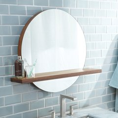 "22"" x 25"" Solace Wall Mount Mirror - Woven Strand Bamboo"