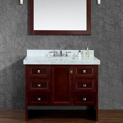 "42"" Seacliff Beckonridge Single Sink Bathroom Vanity -Walnut"