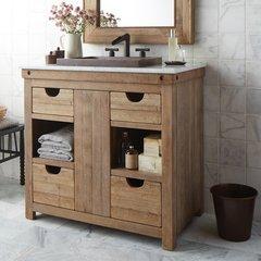 """36"""" Chardonnay Single Bathroom Vanity Suite - Chardonnay"""