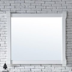 "43"" x 40"" Brittany Wall Mount Bathroom Mirror -Cottage White"