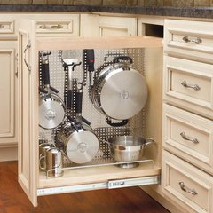 "Base Organizer with Stainless Steel Panel 8"" -Wood"