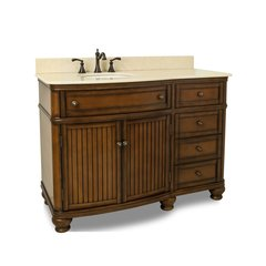 "48"" Compton Single Sink Bathroom Vanity - Walnut"