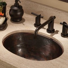 "17"" x 13-1/4"" Cameo Universal Bathroom Sink - Antique Copper"