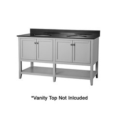 "60"" Auguste Cabinet Only w/o Top - Gray"