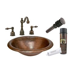 "18"" x 15"" Oval Drop-In Sink Package - Oil Rubbed Bronze"