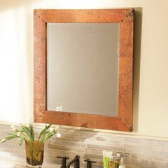 "21-1/2"" x 27-1/2"" Tuscany Wall Mount Mirror- Tempered Copper"