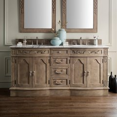 "72"" Regent Double Vanity w/Galala Beige Top-Empire Gray"