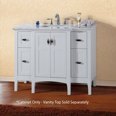 """44"""" Single Sink Cabinet Only w/o Top - White"""