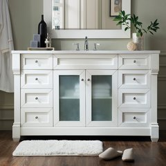 "60"" Weston Single Vanity w/ Arctic Fall Top-Cottage White"