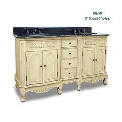 "60"" Clairemont Double Sink Vanity - Buttercream"