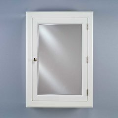 "Devon 22"" Wall Mount Mirrored Medicine Cabinet - White <small>(#DEV1-W-S)</small>"