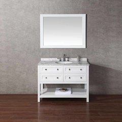 "48"" Marla Single Vanity - White/Carrara White Top"